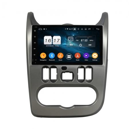 Штатная магнитола Carmedia KD-9619-P30 для Renault Logan c DSP процессором на Android 10