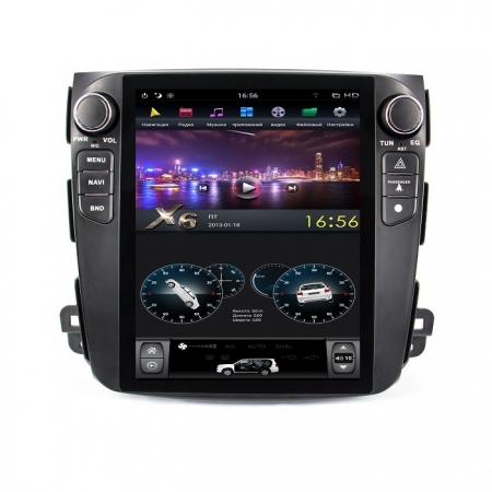 Головное устройство в стиле Тесла FarCar ZF056-1 для Mitsubishi Outlander XL, Citroen C-Crosser, Peugeot 4007 (Low) с матрицей IPS HD на Android