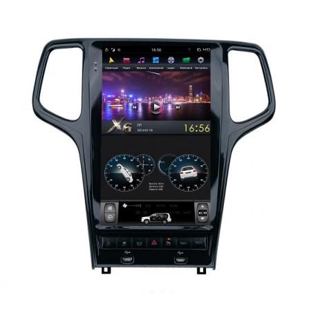 Головное устройство в стиле Тесла FarCar ZF2010 для Jeep Grand Cherokee 2014-2020 с матрицей IPS HD на Android