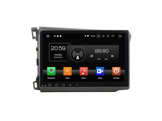 Штатная магнитола Carmedia KD-1056-P5 для Honda Civic IX 2012-2013 c DSP процессором на Android 9
