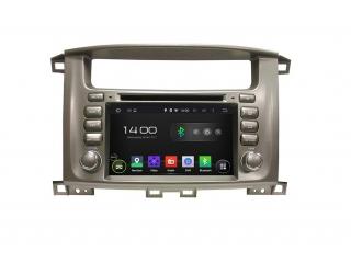Штатная магнитола Carmedia KD-7020-P6 для Toyota Land Cruiser 100 c DSP процессором на Android 9
