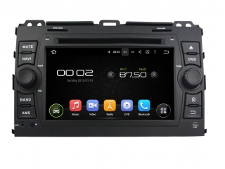 Штатная магнитола Carmedia KD-7027-P30 для Toyota Land Cruiser Prado 120 c DSP процессором на Android 9
