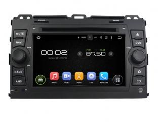 Штатная магнитола Carmedia KD-7027-P6 для Toyota Land Cruiser Prado 120 c DSP процессором на Android 9