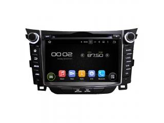 Штатная магнитола Carmedia KD-7028-P6 для Hyundai i30 2012+ c DSP процессором на Android 9