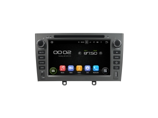 Штатная магнитола Carmedia KD-7604-g-P30 для Peugeot 408 2012+, 308 2008-2014 (серая) c DSP процессором на Android 9