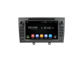 Штатная магнитола Carmedia KD-7604-g-P5 для Peugeot 408 2012+, 308 2008-2014 (серая) c DSP процессором на Android 9