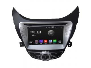 Штатная магнитола Carmedia KD-8028-P6 для Hyundai Elantra 2011-2012 c DSP процессором на Android 9