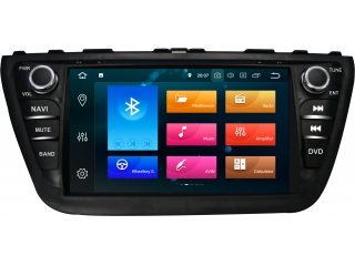 Штатная магнитола Carmedia KD-8073-P6 для Suzuki SX4 2013+, SX4 S-Cross 2013+ c DSP процессором на Android 9