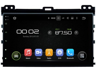 Штатная магнитола Carmedia KD-9026-P30 для Toyota Land Cruiser Prado 120 c DSP процессором на Android 9