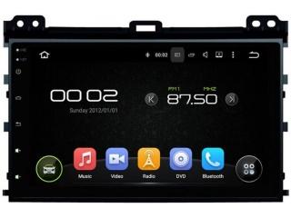 Штатная магнитола Carmedia KD-9026-P6 для Toyota Land Cruiser Prado 120 c DSP процессором на Android 9