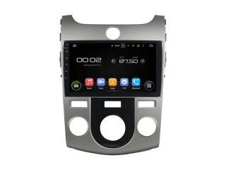 Штатная магнитола Carmedia KD-9703-P6 для Kia Cerato 2008-2013 (с кондиционером) c DSP процессором на Android 9