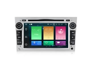 Штатная магнитола Carmedia MKD-7408-P6-s для Opel Astra, Vectra, Corsa, Antara, Vivaro, Meriva, Zafira Серебро с DSP процессором на Android 10
