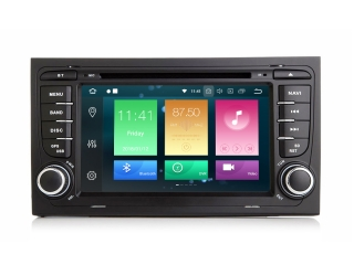 Штатная магнитола Carmedia MKD-A787-P6 для Audi A4, RS4, S4 с DSP процессором на Android 10