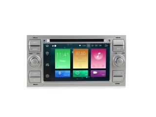 Штатная магнитола Carmedia MKD-F745S-P6 для Ford  Focus 2, Fusion, C-Max, Transit (прямоугольная) с DSP процессором на Android 10