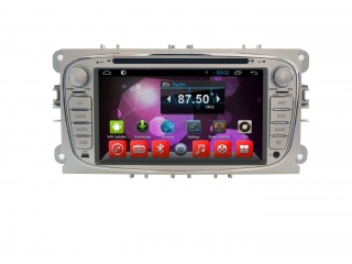 Штатная магнитола Carmedia MKD-F746S-P6 для Ford Focus 2, Mondeo, S-Max (овальная) с DSP процессором на Android 10