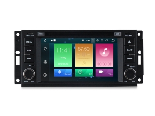 Штатная магнитола Carmedia MKD-J613-P6 для Chrysler, Dodge, Jeep с DSP процессором на Android 10