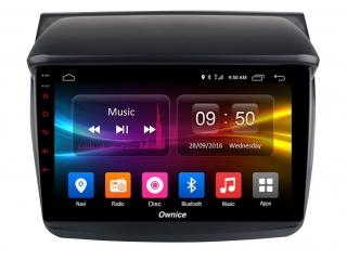 Штатная магнитола Carmedia OL-9635 для Mitsubishi Pajero Sport 2007-2013, L200 2007-2015 c DSP процессором с CarPlay на Android 10