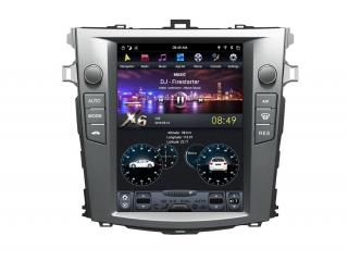 Головное устройство в стиле Тесла Carmedia ZF-1063-DSP для Toyota Corolla 2006-2013 c DSP процессором на Android