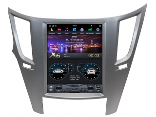 Головное устройство в стиле Тесла Carmedia ZF-1070-B-DSP для Subaru Legacy, Outback 2009-2011 c DSP процессором на Android
