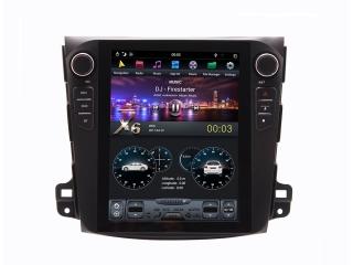 Головное устройство в стиле Тесла Carmedia ZF-1106-DSP для Mitsubishi Outlander XL, Peugeot 4007, Citroen C-Crosser c DSP процессором на Android