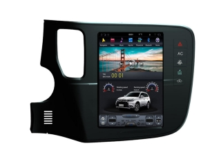 Головное устройство в стиле Тесла Carmedia ZF-1109-DSP для Mitsubishi Outlander 2012+ c DSP процессором на Android
