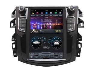 Головное устройство в стиле Тесла Carmedia ZF-1158-DSP для Nissan Navara c DSP процессором на Android
