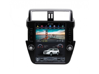 Головное устройство в стиле Тесла Carmedia ZF-1215-DSP для Toyota LC Prado 150 2014-2016 (без кругового обзора) c DSP процессором на Android