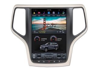 Головное устройство в стиле Тесла Carmedia ZF-1217G-DSP для Jeep Grand Cherokee 2013+ (Цвет шампань) c DSP процессором на Android