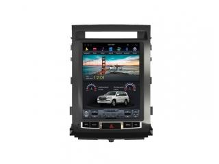 Головное устройство в стиле Тесла Carmedia ZF-1220-DSP для Toyota Land Cruiser 200 2007-2015 Elegance c DSP процессором на Android