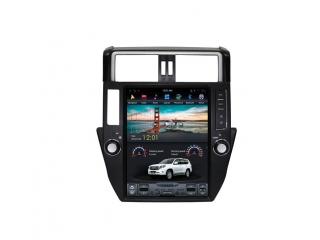 Головное устройство в стиле Тесла Carmedia ZF-1221-DSP для Toyota LC Prado 150 2009-2013 c DSP процессором на Android