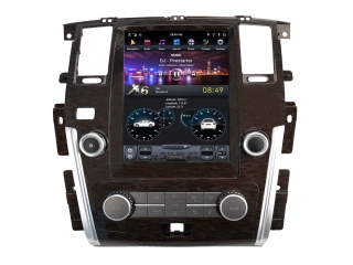 Головное устройство в стиле Тесла Carmedia ZF-1222-DSP для Nissan Patrol 2010+ c DSP процессором на Android