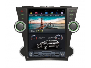 Головное устройство в стиле Тесла Carmedia ZF-1225-DSP для Toyota Highlander 2007-2013 c DSP процессором на Android