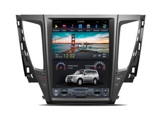 Головное устройство в стиле Тесла Carmedia ZF-1236-DSP для Mitsubishi Pajero Sport 2016+ (Круговой обзор только с передачи ЗХ) c DSP процессором на Android