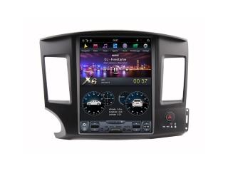 Головное устройство в стиле Тесла Carmedia ZF-1259-DSP для Mitsubishi Lancer X c DSP процессором на Android