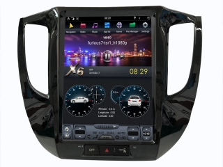 Головное устройство в стиле Тесла Carmedia ZF-1272-DSP для Mitsubishi Pajero Sport 2016+ (МКПП) c DSP процессором на Android