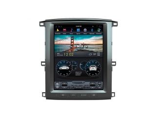 Головное устройство в стиле Тесла Carmedia ZF-1301-DSP для Toyota LC 100 2002-2008 c DSP процессором на Android