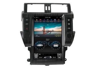 Головное устройство в стиле Тесла Carmedia ZF-1801-DSP для Toyota LC Prado 150 2014-2016 (без кругового обзора) c DSP процессором на Android