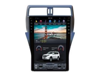 Головное устройство в стиле Тесла Carmedia ZF-1805-DSP для Toyota LC Prado 150 2017+ (без кругового обзора) c DSP процессором на Android
