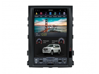 Головное устройство в стиле Тесла Carmedia ZF-1806L-DSP для Toyota Land Cruiser 200 2007-2015 Elegance c DSP процессором на Android