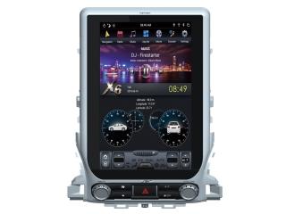 Головное устройство в стиле Тесла Carmedia ZF-1807H-DSP для Toyota LC 200 2015+ c DSP процессором на Android