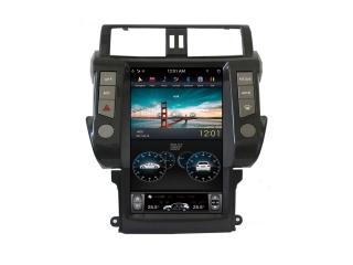 Головное устройство в стиле Тесла Carmedia ZF-1817L-DSP для Toyota LC Prado 150 2009-2013 c DSP процессором на Android