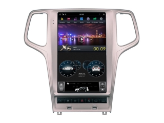 Головное устройство в стиле Тесла Carmedia ZF-1823G-DSP для Jeep Grand Cherokee (Поддержка всех функций авто) c DSP процессором на Android