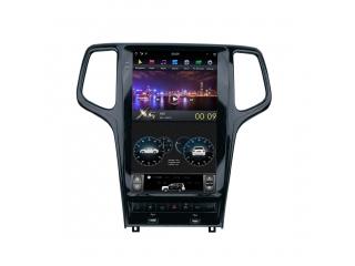 Головное устройство в стиле Тесла Carmedia ZF-1827B-DSP для Jeep Grand Cherokee 2008-2013 (Цвет черный) c DSP процессором на Android