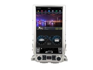 Головное устройство в стиле Тесла Carmedia ZF-1829H-DSP для Toyota Land Cruiser 200 2015+ top c DSP процессором на Android