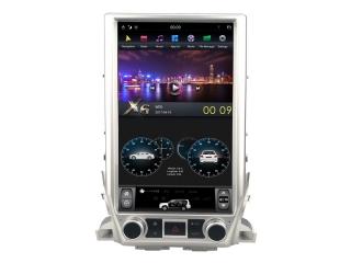 Головное устройство в стиле Тесла Carmedia ZF-1829L-DSP для Toyota LC 200 2015+ c DSP процессором на Android