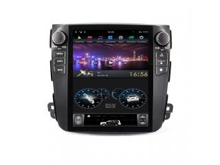 Головное устройство в стиле Тесла FarCar ZF056-2 для Mitsubishi Outlander XL, Citroen C-Crosser, Peugeot 4007 (High) с матрицей IPS HD на Android
