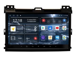 Штатная магнитола Redpower 71182 для Toyota Land Cruiser Prado 120, Lexus GX 470 2002-2009 с DSP процессором, 4G модемом и CarPlay на Android 10