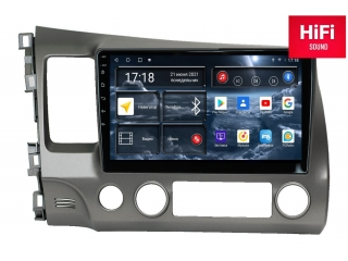 Штатная магнитола Redpower 75024 для Honda Civic 2006-2012 с DSP процессором, 4G модемом и CarPlay на Android 10