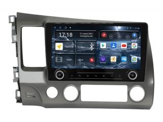 Штатная магнитола Redpower 71024 KNOB для Honda Civic 2006-2012 с DSP процессором, 4G модемом и CarPlay на Android 10