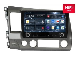 Штатная магнитола Redpower 75024 KNOB для Honda Civic 2006-2012 с DSP процессором, 4G модемом и CarPlay на Android 10